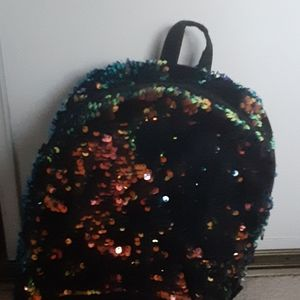 A sparkly glitter backpack